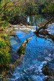 Waterfall Duden and wood bridge Royalty Free Stock Image