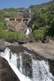 Waterfall Dudhsagar. In goa India Royalty Free Stock Photo