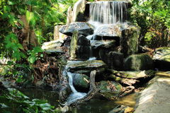 Waterfall,Dusit Zoo (Khao Din), Bangkok, Thailand. Dusit Zoo (Khao Din) is a very popular place for family Stock Photos