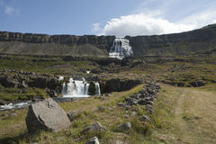 Waterfall Dynjandi in Iceland Royalty Free Stock Images