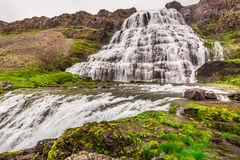 Waterfall Dynjandi, Iceland Stock Photo