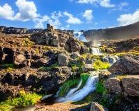 Waterfall Dynjandifoss Stock Image