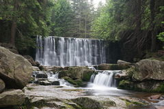 Waterfall Dziki in Karpacz, Karkonoszy, Poland Stock Photos
