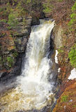 Waterfall. Early spring waterfall in Delaware Water Gap National Recreation Area Stock Photo