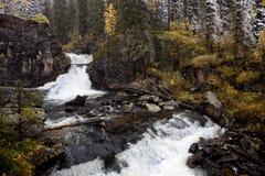 Waterfall in East Kazakhstan, Altai mountains Stock Photo