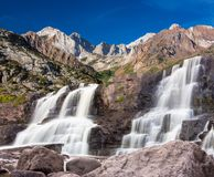 Waterfall in the eastern Sierras. royalty free stock photo