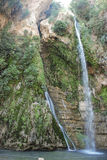 Waterfall. A waterfall in Ein Gedi, Israel Stock Images