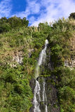 The Waterfall El Cabello del Virgen in Banos, Ecuador Royalty Free Stock Images