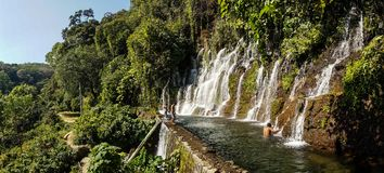 Waterfall in El Imposible National Park, Honduras.  stock images