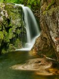 Waterfall Elbe river Stock Image