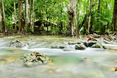 Waterfall in emerald pool 4 Stock Photos