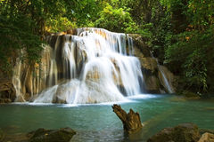Waterfall emerald sunlight Royalty Free Stock Image