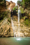 Waterfall in En Gedi Nature Reserve and National Park Stock Images