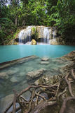 Waterfall Eravan, in Kanchanabury, Thailand Royalty Free Stock Photography