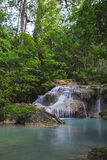 Waterfall Eravan, in Kanchanabury, Thailand Stock Photos
