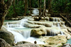 Waterfall-Erawan Stock Photo