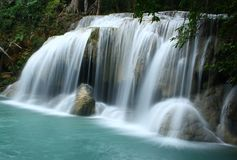 Waterfall-Erawan Royalty Free Stock Images