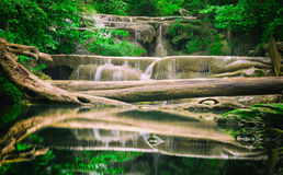 Waterfall Erawan Royalty Free Stock Photography