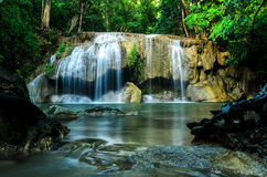 Waterfall The Erawan Royalty Free Stock Photo