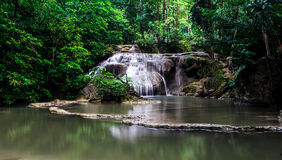 Waterfall The Erawan Royalty Free Stock Photography