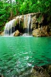 Waterfall in Erawan national park Stock Images