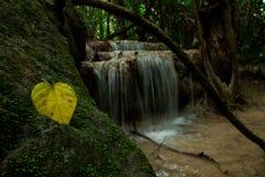 Waterfall. In Erawan National Park Royalty Free Stock Images