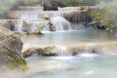 Waterfall in Erawan national park , Kanchanaburi , thailand Stock Photography