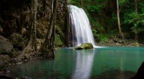 Waterfall Erawan. TimeLapse Waterfall ,Erawan National Park in Kanchanaburi, Thailand stock footage
