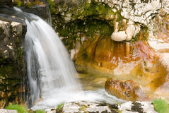 Waterfall and erosion royalty free stock photo