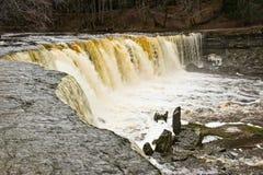Waterfall in Estonia stock photos