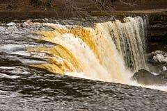 Waterfall in Estonia stock photography