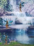 Waterfall fairy Stock Photo