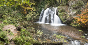 Waterfall in the Fairy Glen on the Black Isle in Scotland. Royalty Free Stock Photos