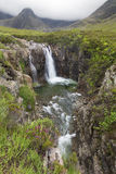 Waterfall in Fairy Pools rocky stream on Isle of Skye Stock Image