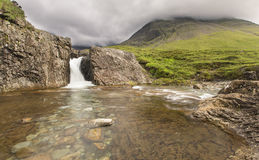 Waterfall in Fairy Pools rocky stream on Isle of Skye Stock Photography