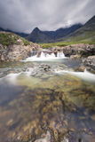 Waterfall in Fairy Pools rocky stream on Isle of Skye Royalty Free Stock Photo