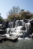FDR Memorial Waterfall in DC royalty free stock photo