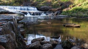 Waterfall at the Falls Park. On the Reedy, in Greenville, South Carolina stock photo
