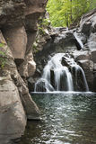 Waterfall at Fawn`s Leap in the Catskill Mountains. The iconic historic Fawn`s Leap waterfall in the eastern Catskill Mountains of New York State royalty free stock images