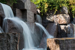 Waterfall at the FDR Memorial Stock Photo