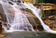 Waterfall with few water Royalty Free Stock Photos