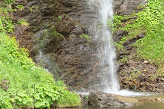 Waterfall of the Finsterbach at the Ossiacher lake Royalty Free Stock Photography