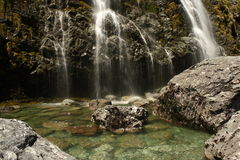 Waterfall in Fiordland National Park Royalty Free Stock Images