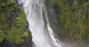 Waterfall in Fiordland New Zealand Royalty Free Stock Image