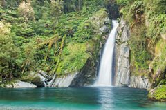 Waterfall/fiordoland,Milford track,New Zealand Stock Photography