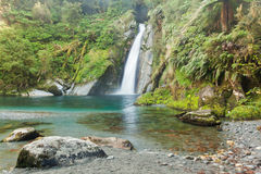 Waterfall/fiordoland,Milford track,New Zealand Royalty Free Stock Image