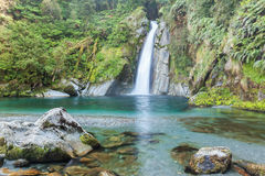 Waterfall/fiordoland,Milford track,New Zealand Royalty Free Stock Photos