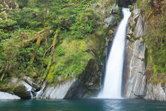 Waterfall/fiordoland,Milford track,New Zealand Royalty Free Stock Photography