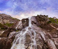 Waterfall in fjord Lysefjord - Norway Royalty Free Stock Images