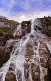 Waterfall in fjord Lysefjord - Norway Stock Photos